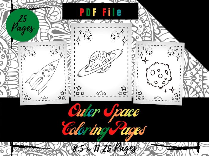 Outer Space Colouring Pages, Sheets PDF, Cool Space Colouring Pages, Printable
