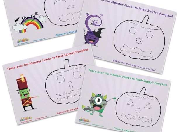 Pumpkin Activity Sheets | Design a Halloween Pumpkin | The Mark Makers