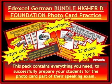 Edexcel German GCSE Photo Card Speaking BUNDLE