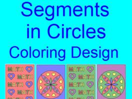 CIRCLES:  SEGMENTS IN CIRCLES - COLORING ACTIVITY (COLLABORATION)