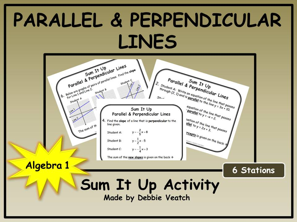 Parallel and Perpendicular Lines Sum It Up Activity