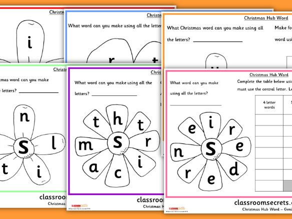 Differentiated Christmas Vocabulary Words Activity