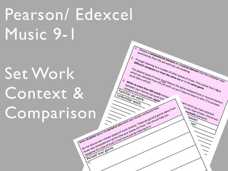 Edexcel Music 9-1: Set Work Context & Comparison