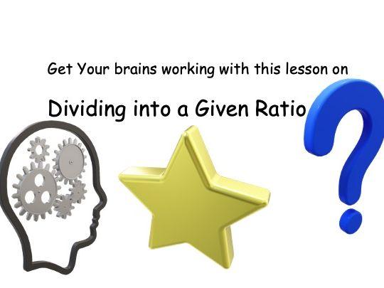 Dividing into a given Ratio