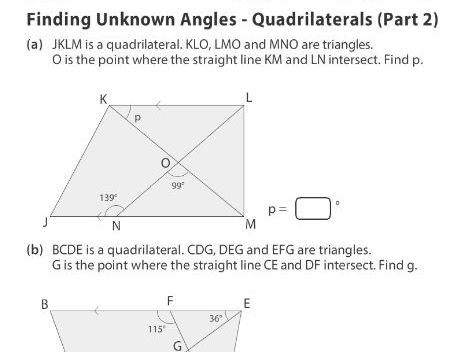 Finding Unknown Angles - Quadrilaterals (Part 2)