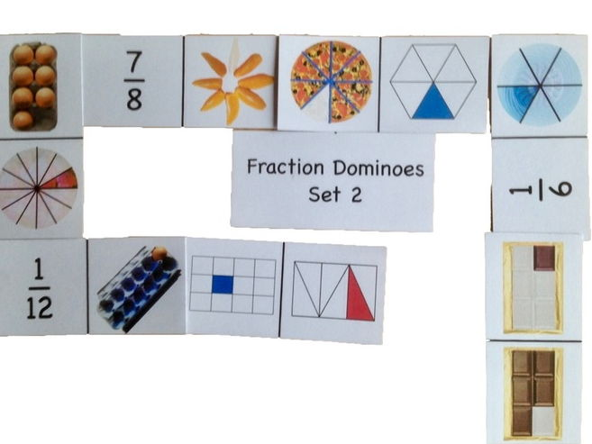 Fraction Dominoes Set 2
