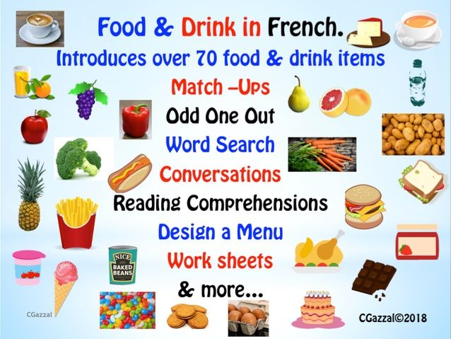 French – Food & Drink - A Complete Pack.