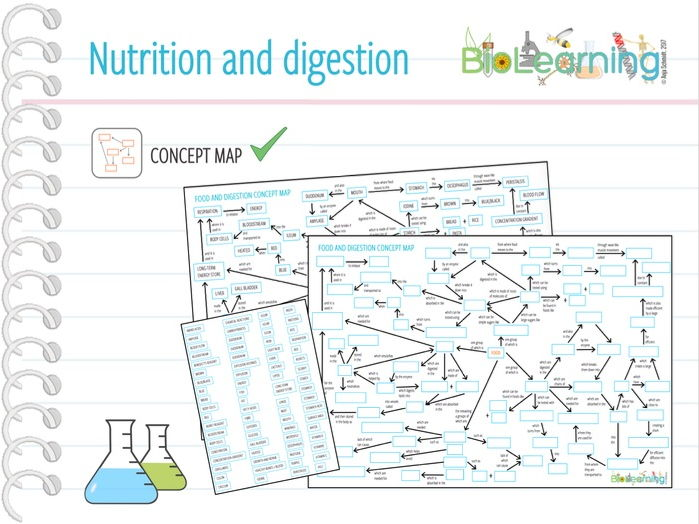 Nutrition and Digestion - Concept map