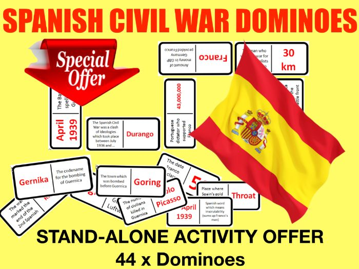 Spanish Civil War Dominoes - activity