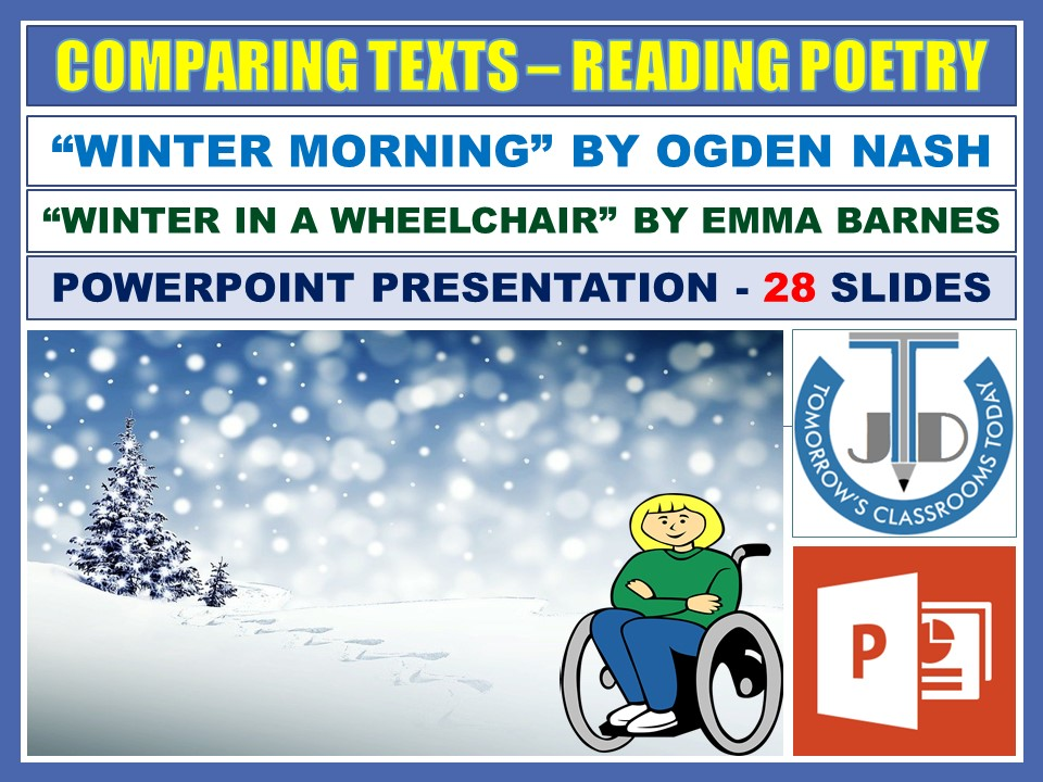 COMPARING WINTER POEMS - READING POETRY: POWERPOINT PRESENTATION