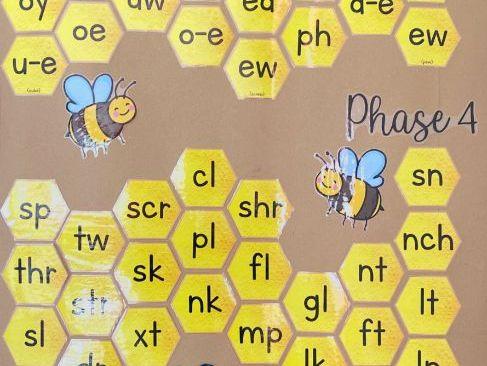 Honeycomb Phonics Display