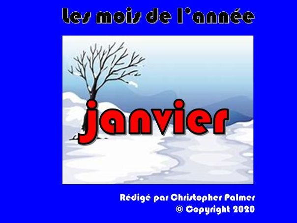 French: Months of the year, weather and the season winter - January (Key Stage 2)