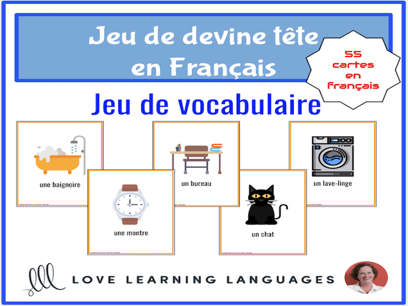 Devine Tête - French forehead guessing vocabulary game