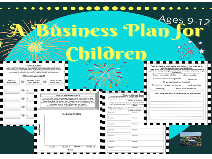 New Business Plan KS2, Ages 9-12