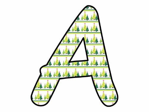 Printable display bulletin letters numbers and more: Christmas Tree