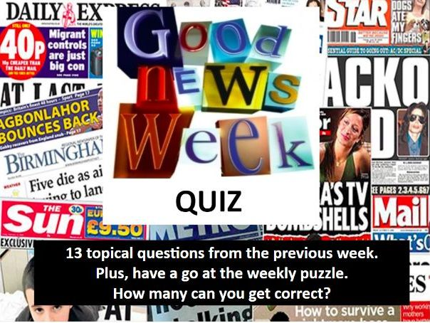 Topical Weekly News Quiz