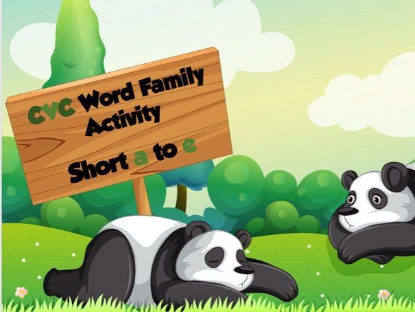 Sample CVC Word Building Activity