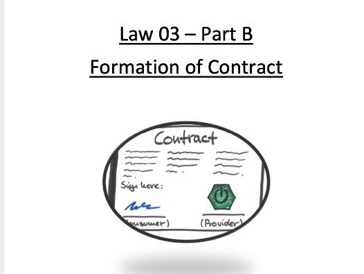 CONTRACT LAW BUNDLE - ENTIRE UNIT OF WORK FOR THE WHOLE OF CONTRACT A LEVEL OCR