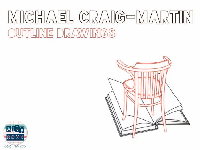 MICHAEL CRAIG MARTIN - Outline Drawing Still Life Project