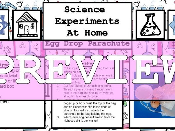 Science Home Experiments - Egg Drop Parachute Challenge