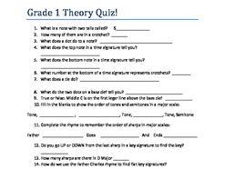 ABRSM Grade 1 Theory Quiz
