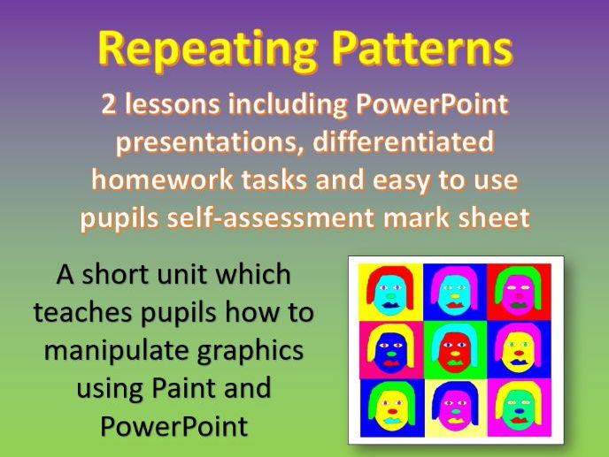 Repeating Patterns - 2 lesson unit (KS2 and KS3 Computing and ICT)