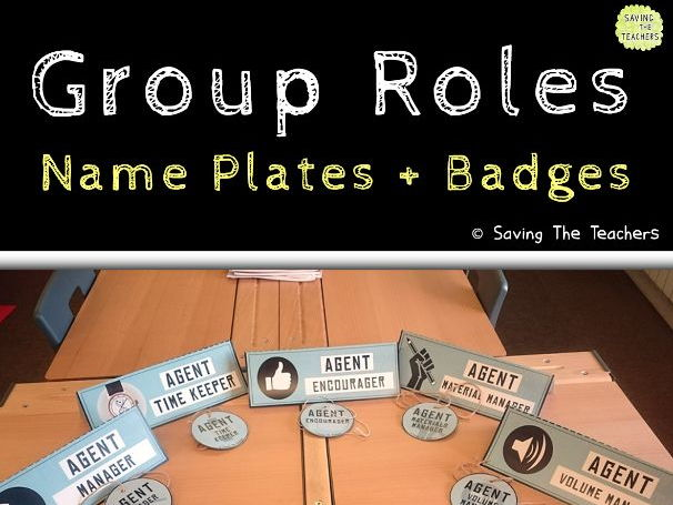 Group Roles Badges and Job Plates
