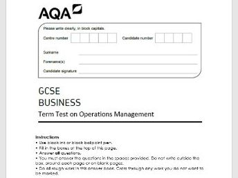 GCSE AQA Business (9-1) Operations End of Topic Test