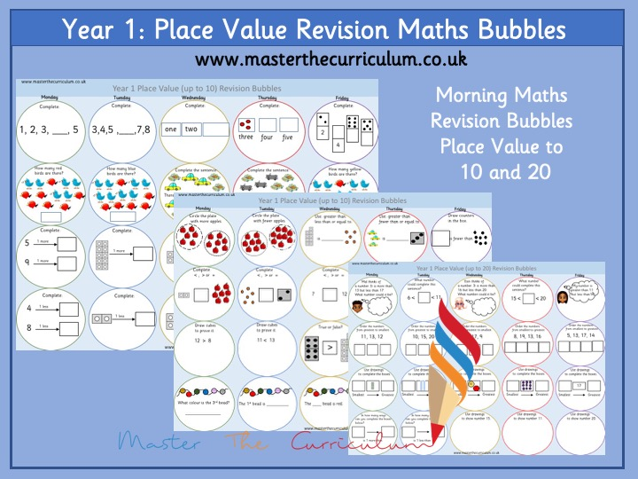 Year 1 – Morning Maths Revision Bubbles – Place Value