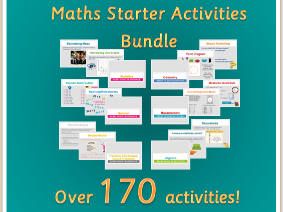 Maths Starter Activities Bundle