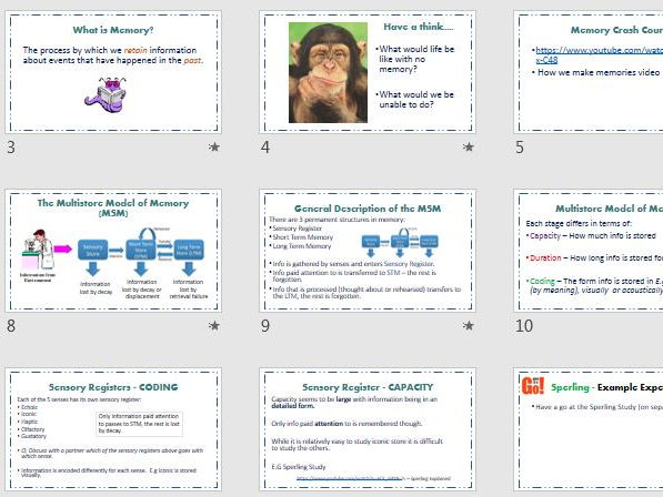 MULTISTORE MODEL of MEMORY - AQA Psychology (new spec) - Full Lesson resource & Exam Questions