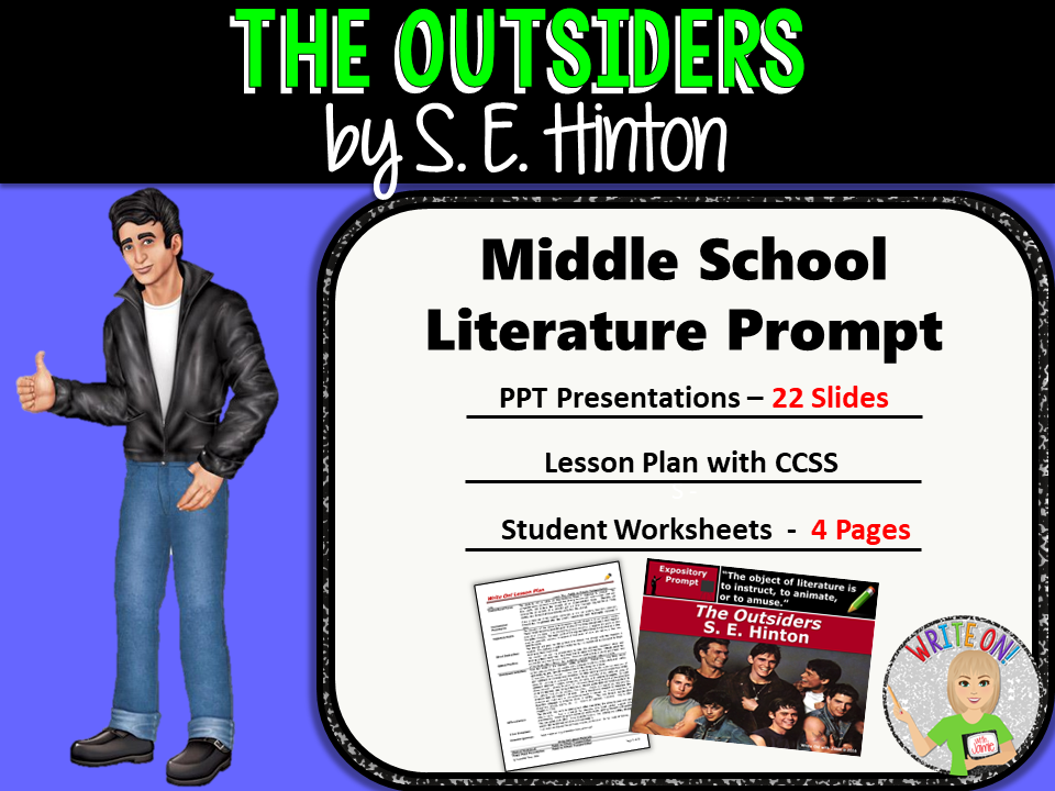The Outsiders by S.E. Hinton - Text Dependent Analysis Expository Writing