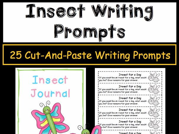 Journal Writing Prompts - Insects