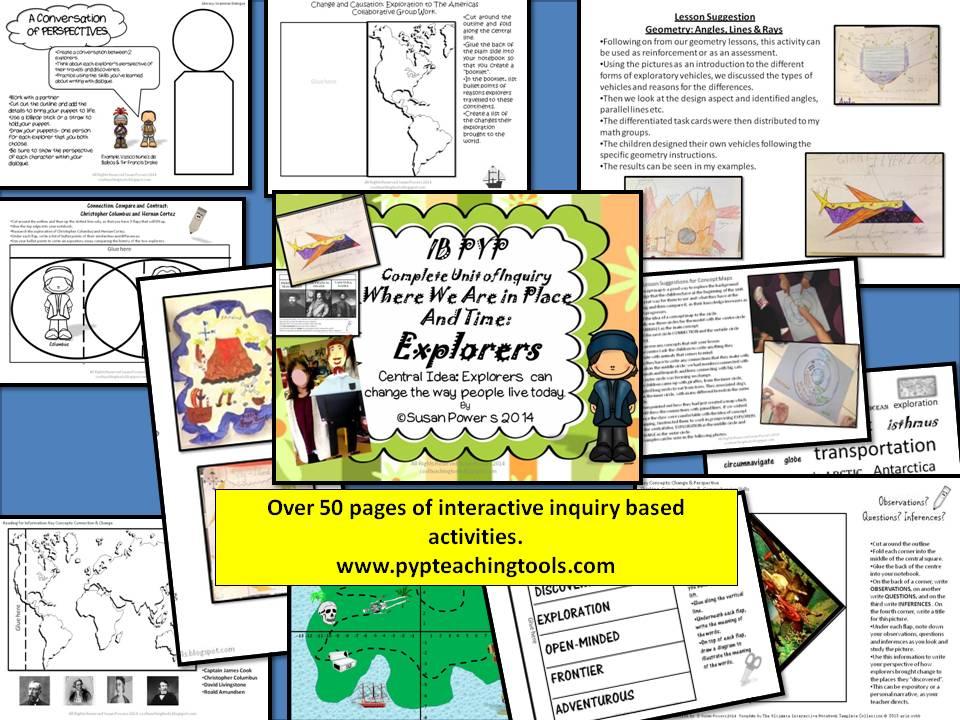A Complete Unit of Inquiry Exploring Explorers IB PYP
