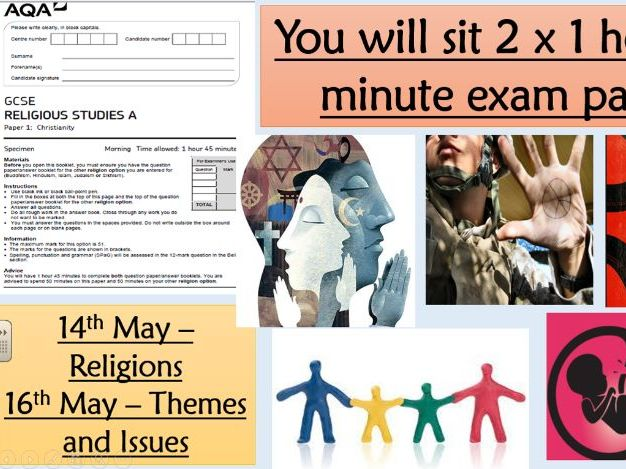 New Spec 9-1 AQA Religious Studies Revision exam structure and how the paper works