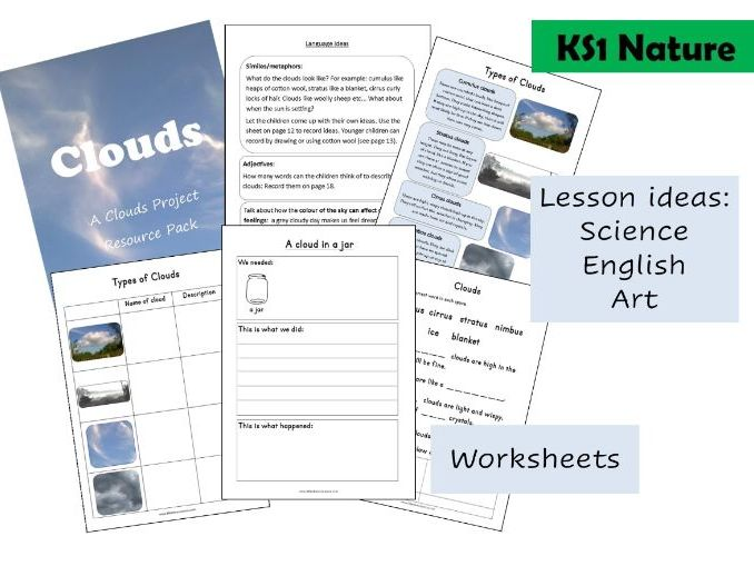 Clouds Project Resource Pack KS1 Home Learning
