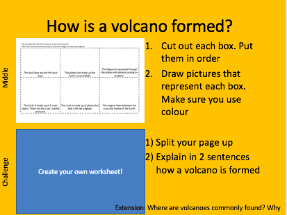 Tectonics KS3: How is a volcano formed? Geography