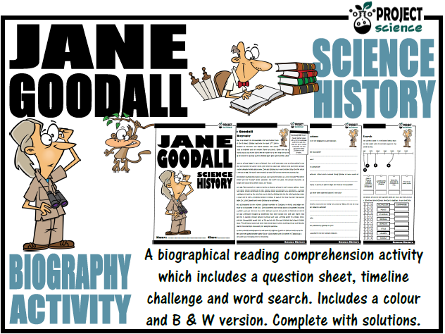 Jane Goodall Biography Activity