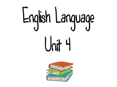 CCEA GCSE English Language Unit 4 Revision Booklet