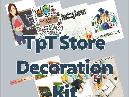 Teaching Resources Store Decoration Kit
