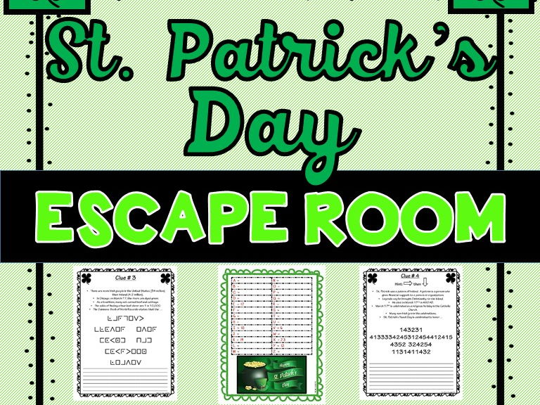 St. Patrick's Day Escape Room - No Prep!