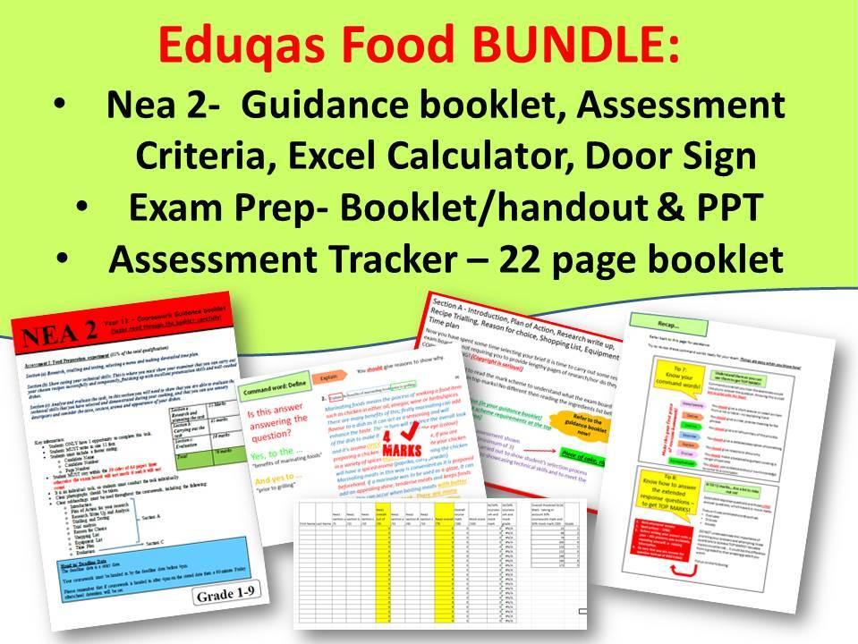 The EDUQAS NEA 2 Guidance, Exam Prep & Assessment Tracker BUNDLE