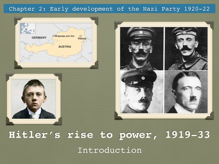 GCSE Weimar Republic Unit 2 Hitler's rise to power Introduction