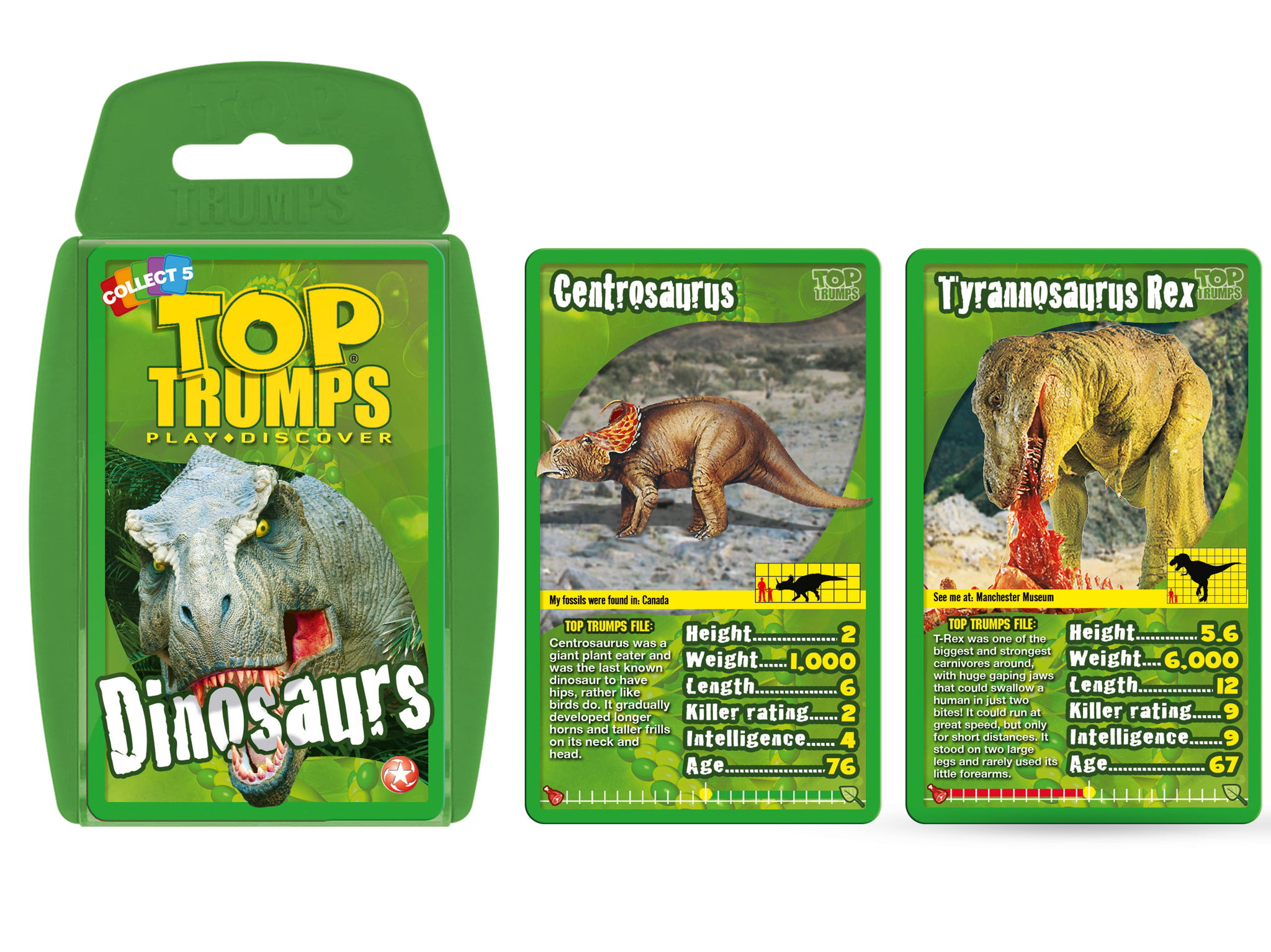 Official Dinosaurs Top Trumps