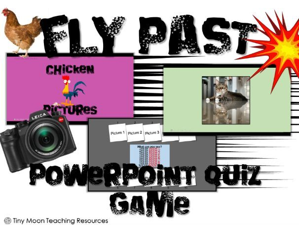 Fly Past / Guess the Picture Customisable PowerPoint Activity