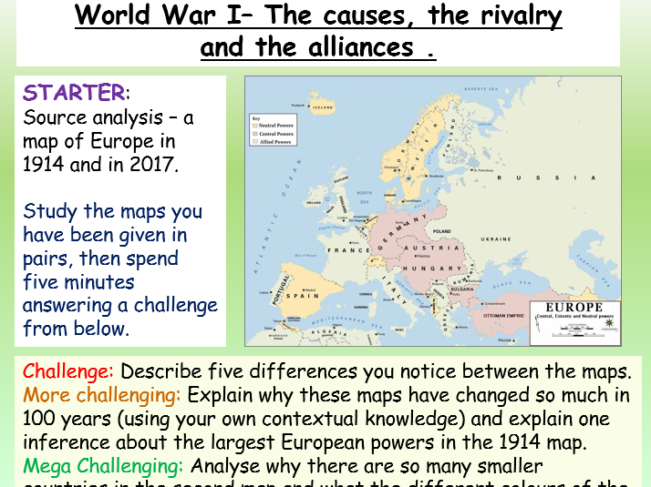 World War I - GCSE