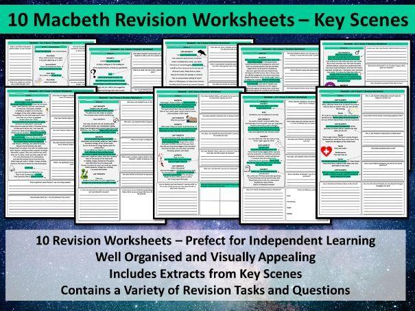 Macbeth Revision Worksheets