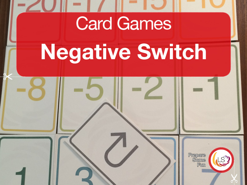 Negative Switch | Calculations Card Game