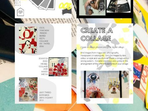 9 Page Art Book | COLLAGE, PHOTO MONTAGE AND DIGITAL COLLAGE | Appropriate for Distance Teaching