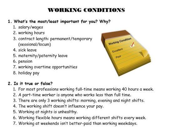 Working conditions in the UK (Lesson)